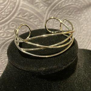 Lia Sophia silver twist cuff bracelet